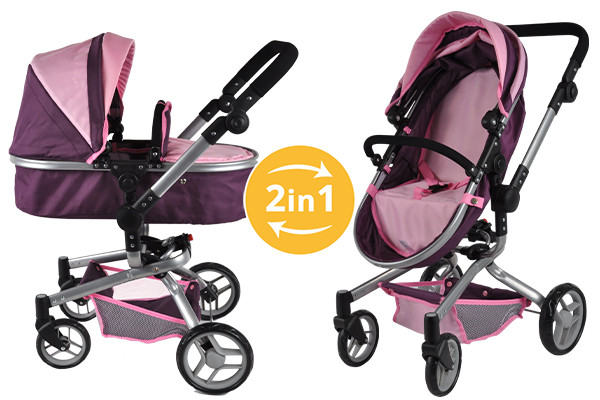 Purple Angel 2in1 poppenwagen