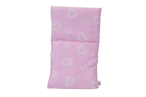 Poppendekentje Pink with hearts