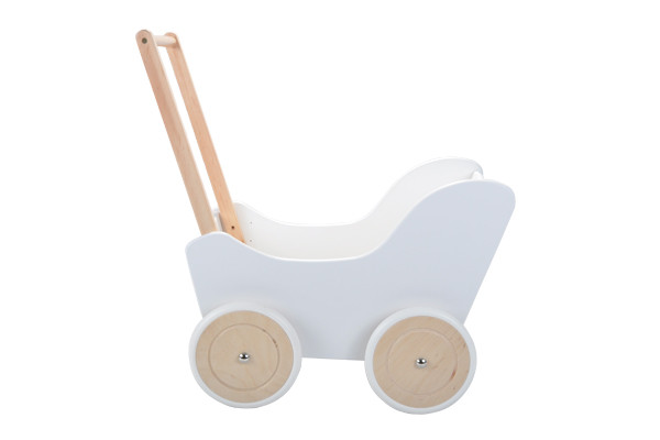 Poppenwagen Little Angel Classic White